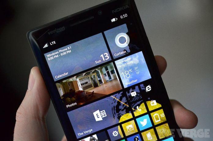 Windows Phone 8.1 stock