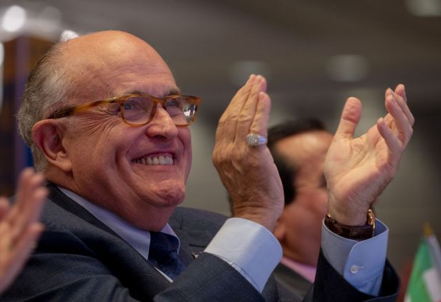President Donald Trump's lawyer Rudy Giuliani says special counsel Robert Mueller won't indict a sitting president.