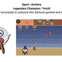 There's also a shooting gallery-style archery mini-game against famous samurai Nasu no Yoichi.