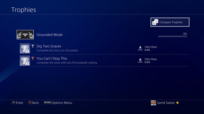 The Last of Us Part 2 Grounded Mode DLC Trophies
