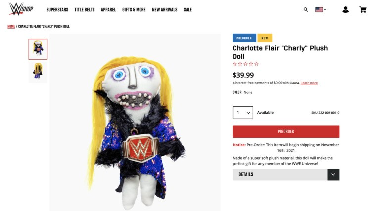 Of course you can already order a Charly doll from WWE Shop