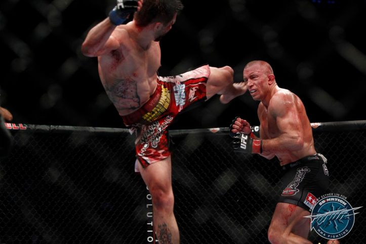 UFC 154 results: Carlos Condit's head kick was the best thing to happen to  Georges St. Pierre - MMAmania.com