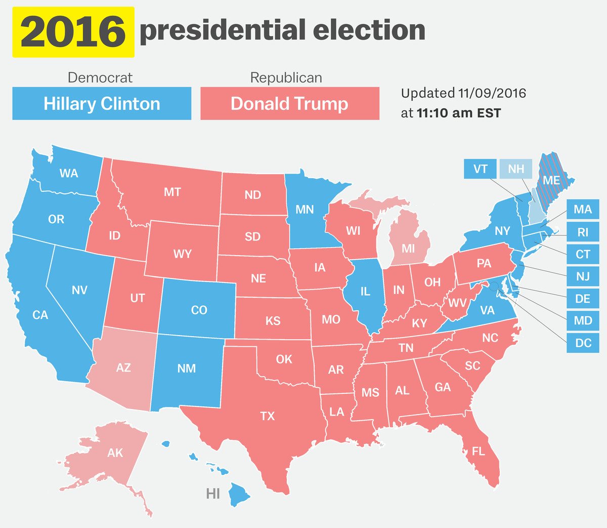 Seven electors voted for someone. How Your State Voted In 2016 Compared To 15 Prior Elections Vox