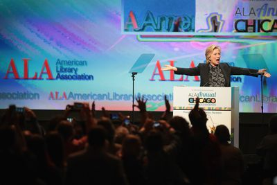 Hillary Clinton Addresses American Library Association Conference In Chicago