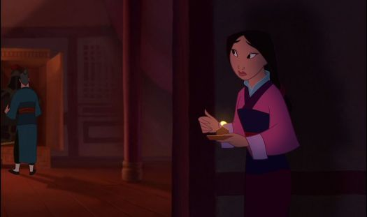 mulan watching her father use his sword