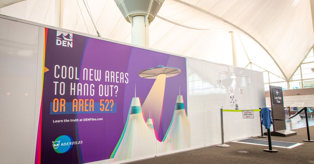 Denver Airport Construction Signs Poke Fun At Conspiracy