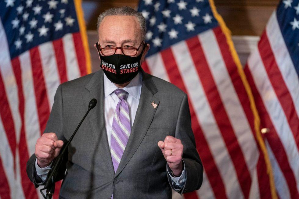 Senate Democratic Leadership Speaks To Media Ahead Of Impeachment Trial