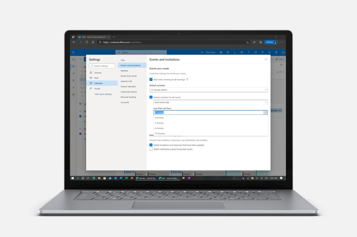 Microsoft Outlook now lets you end all meetings early to give your brain a rest
