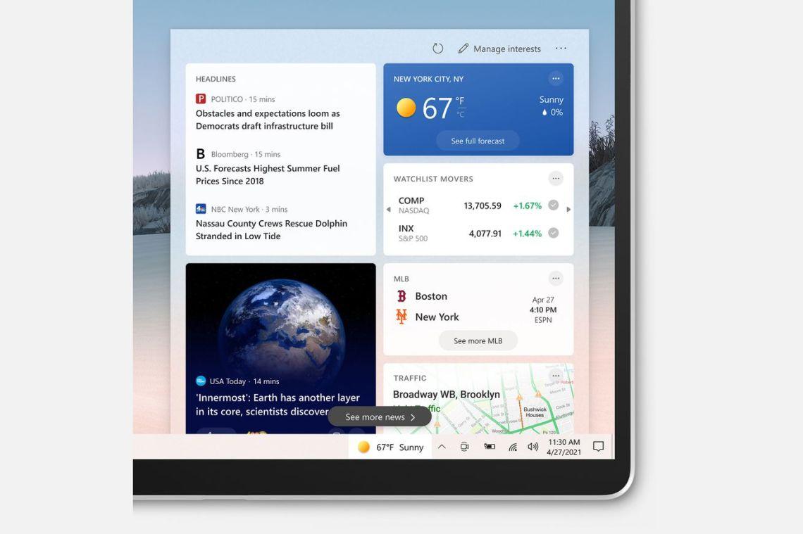 Microsoft's new Windows 10 taskbar widget starts rolling out today