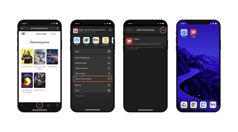 Stadia iOS setup