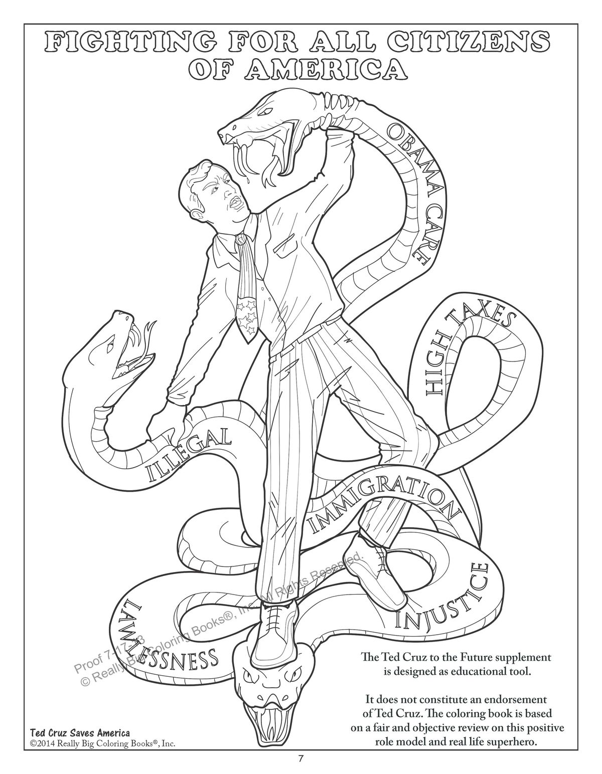 This Coloring Book Features Ted Cruz Fighting A Giant