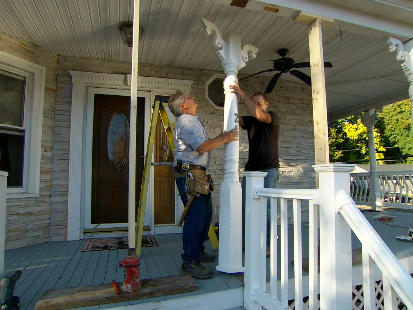 how to repair a rotted porch post