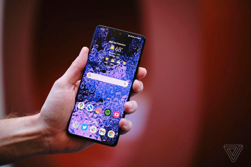 Samsung's Galaxy S21 Ultra.