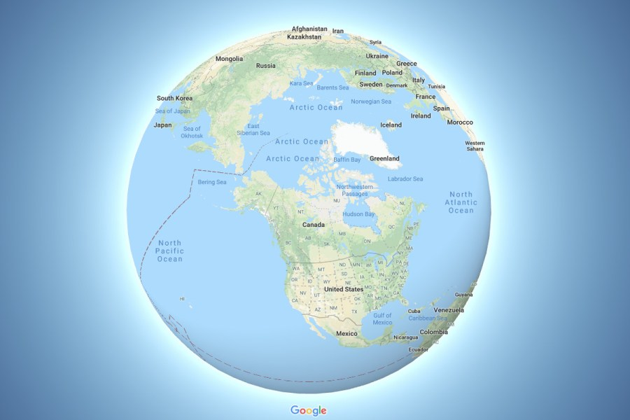 Google Maps now depicts the Earth as a globe   The Verge Screenshot  Google Maps