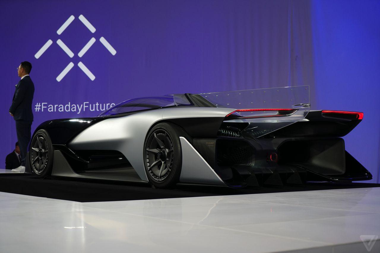 Faraday Futures FFZERO1 Concept Car Looks Even Weirder Up