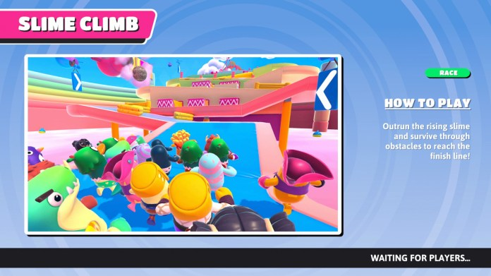 The info screen for Slime Climb in Fall Guys