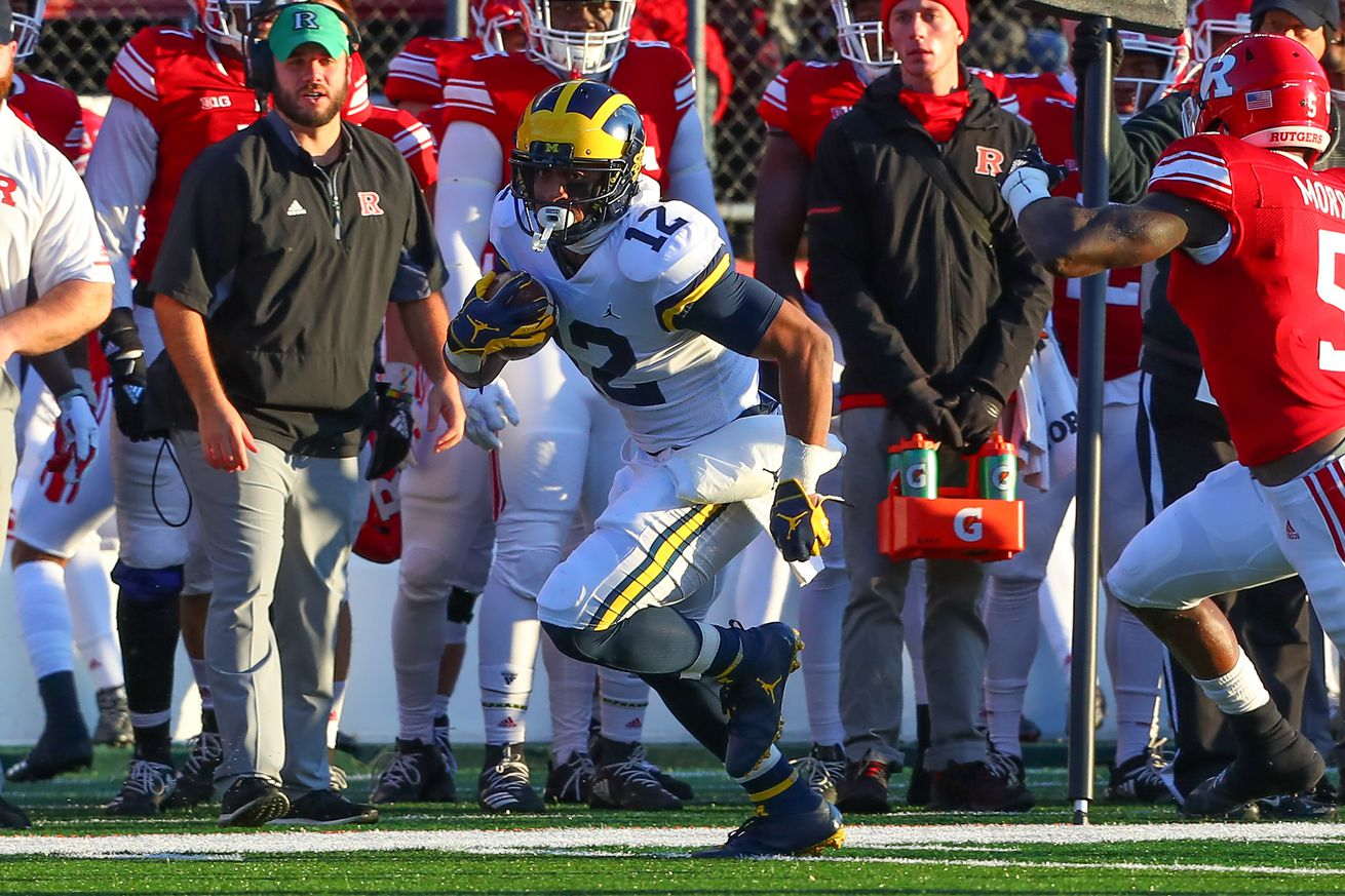 COLLEGE FOOTBALL: NOV 10 Michigan at Rutgers