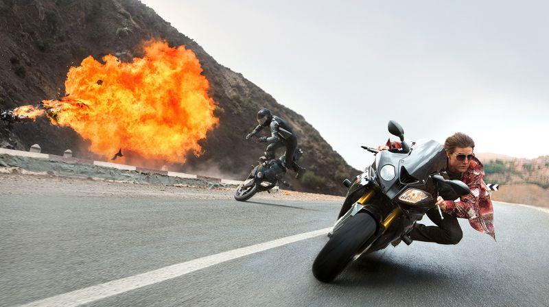Things blow up in Mission Impossible.