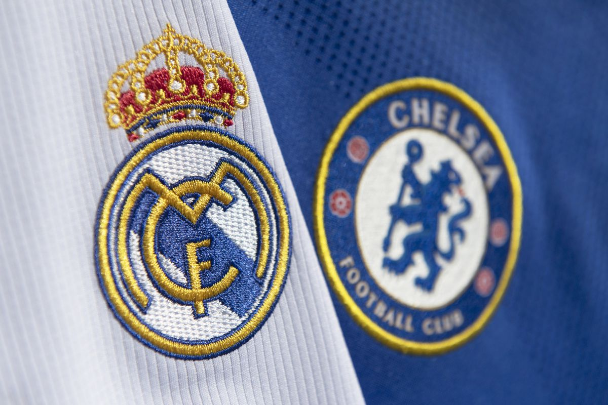 The Club Badges of Real Madrid and Chelsea FC