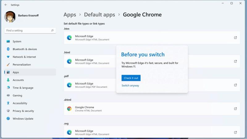 Quando fai clic per la prima volta su un tipo di file, Windows potrebbe tentare di scoraggiare eventuali modifiche.