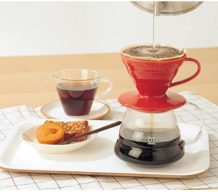 Gotejador de café em cerâmica Hario V60 & nbsp;