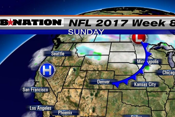HD Decor Images » NFL weather forecast 2017  Week 8  Some wet windy weather   SBNation com Week 8 NFL Weather map Sunday afternoon 10 29 17