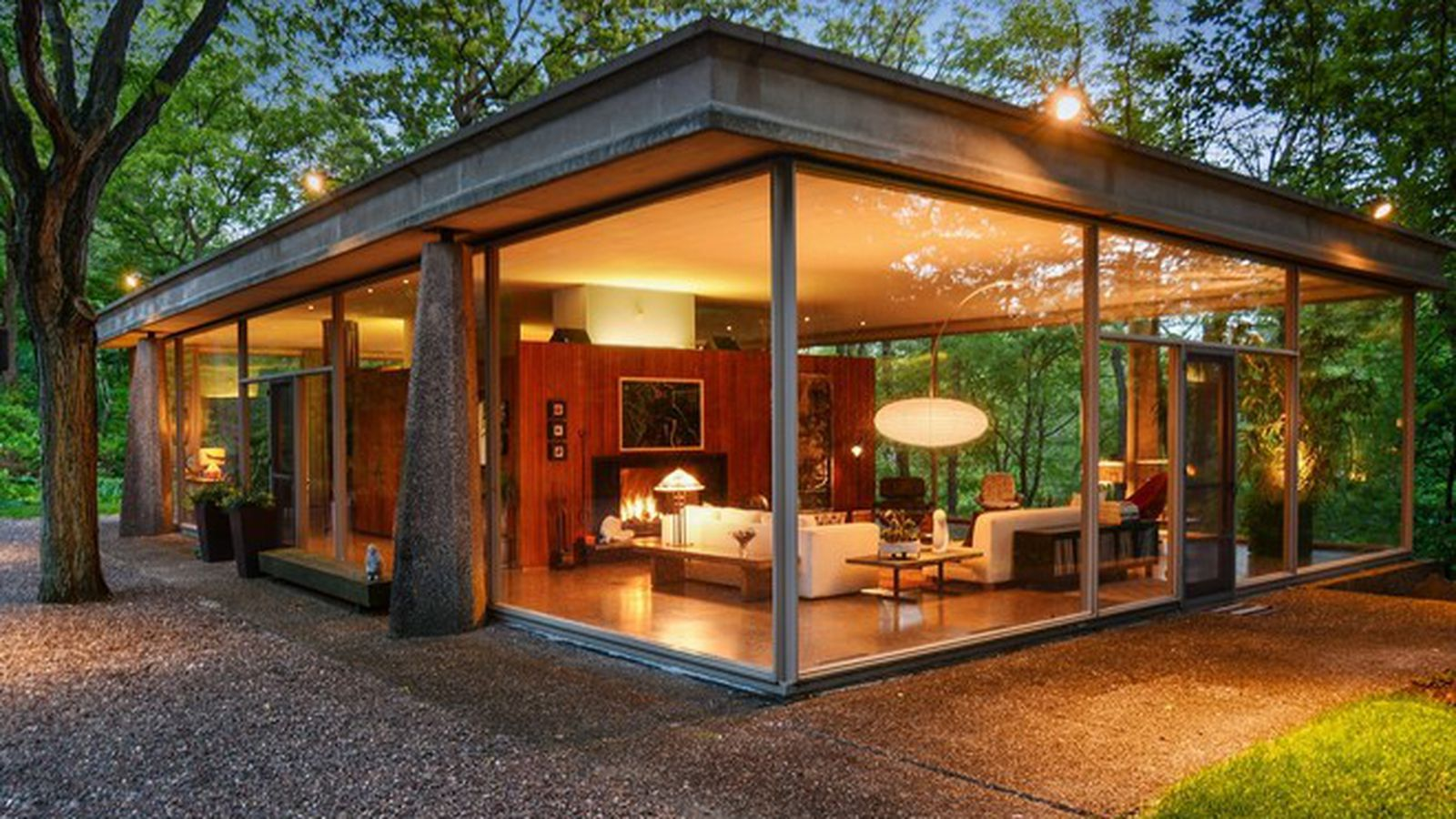 Own an Award Winning Mid-Century Glass House for Just ... on Glass House Design Ideas  id=61264