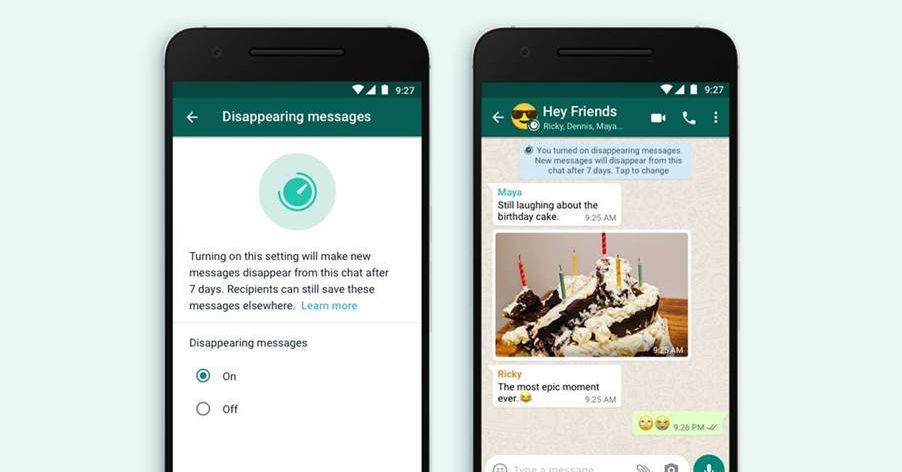 WhatsApp launches new disappearing messages option