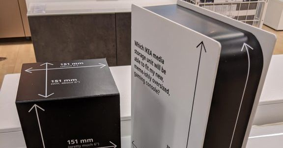 Ikea made mock PS5 and Xbox Series X boxes to help you buy the right media cabinet