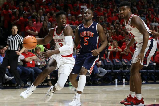 Image result for Ole Miss Rebels vs Auburn Tigers College Basketball 2019