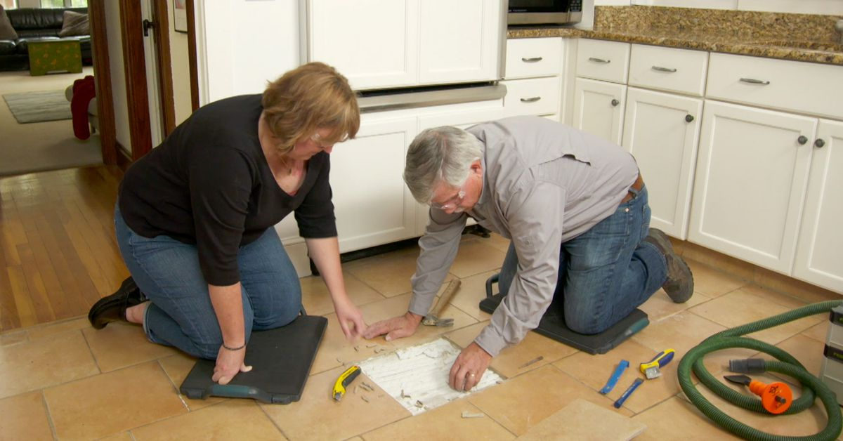 how to replace a cracked floor tile