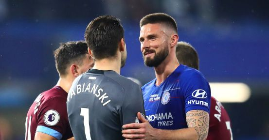 West Ham 'watched' Olivier Giroud in January
