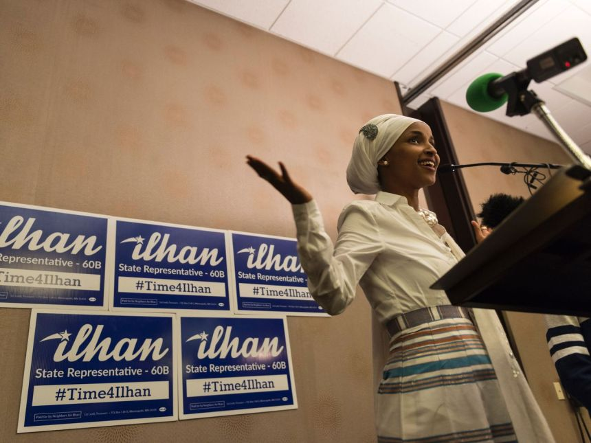 Ilhan Omar, winner of the Democratic primary in the Minnesota Fifth, will likely become one of the first Muslim women elected to Congress.
