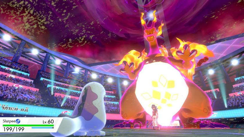 A Quagsire tries to take on Leon's Gigantamax Charizard. This was the last time Slurpee the Quagsire was seen before dying.