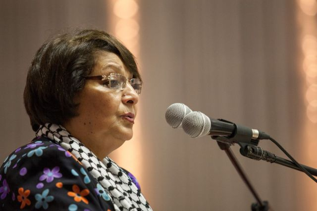 Palestinian activist Leila Khaled in Cape Town