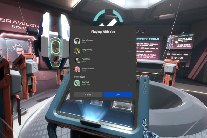 echovrinvite.0 The latest Oculus Quest update lets you easily invite others to play | The Verge