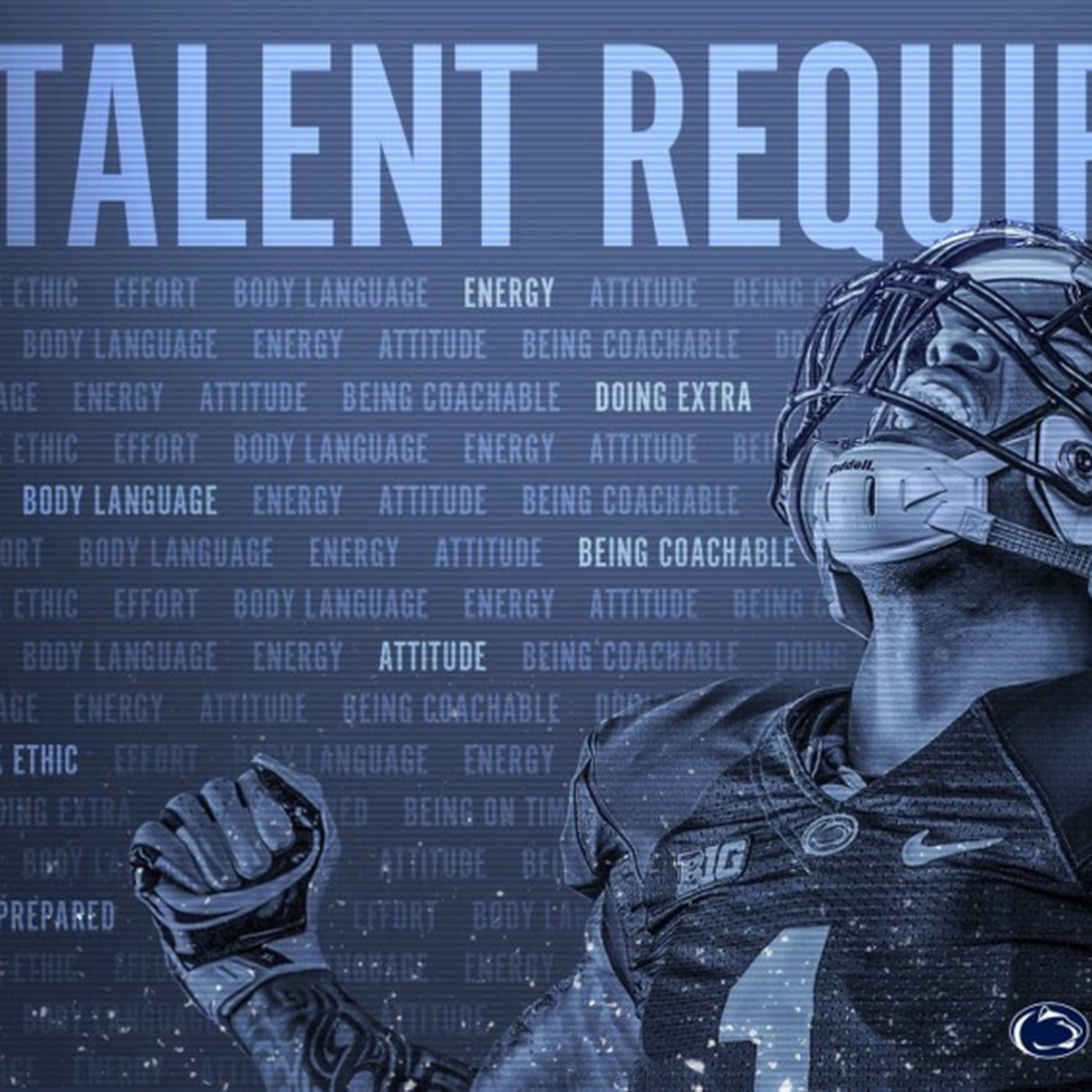 no talent required to play football at