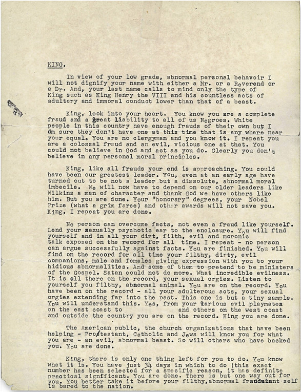MLK letter from FBI