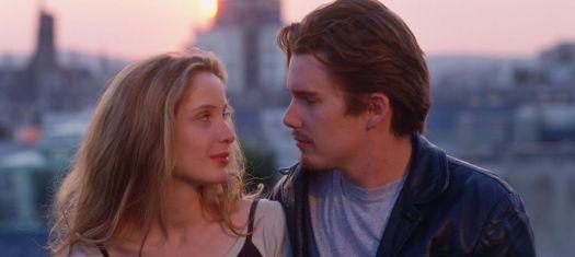 Céline (Julie Delpy) and Jesse (Ethan Hawke) in Richard Linklater's Before Sunrise