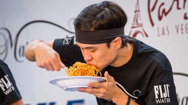 Matt Stonie Eats 20 Bowls of Pasta in Eight Minutes at ...