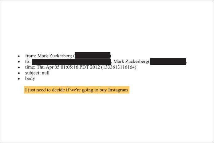 "De Mark Zuckerberg, a redigido, quinta-feira, 5 de abril às 13:05, 2012. ""Só preciso decidir se vamos comprar o Instagram"""