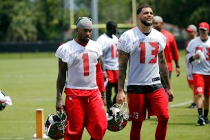 Image result for desean jackson and Mike Evans bucs raymond james