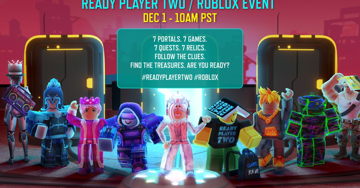Roblox is hosting a Ready Player Two treasure hunt inside its own virtual universe