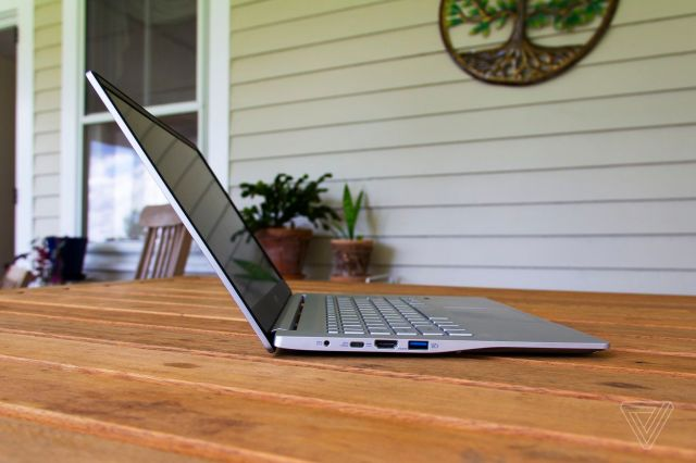 The Acer Swift 3 from the left side.