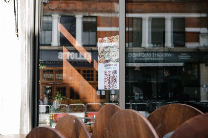 A shot of the window of the Arabica Bar and Kitchen in Borough Market