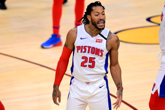 Image result for derrick rose pistons usa today sports