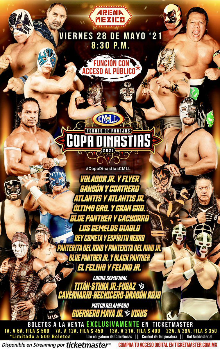 CMLL Roundup: Mask vs. Hair feud picking up steam, Copa Dinastias full card, more!