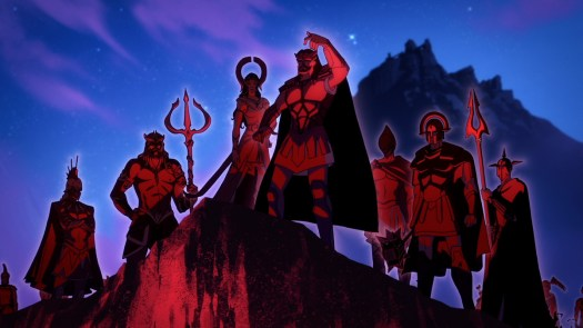 warriors on a hill top in blood of zeus