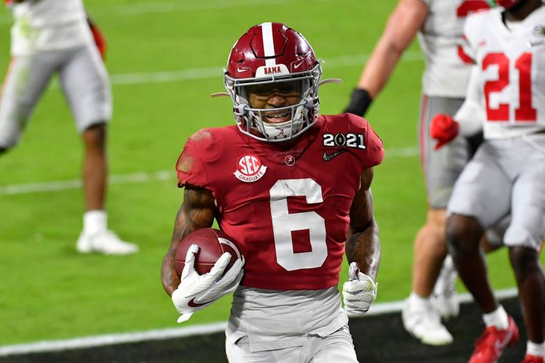 Mock draft tracker: Jaylen Waddle, DeVonta Smith top choices for Giants -  Big Blue View