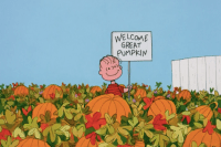 peanuts halloween border